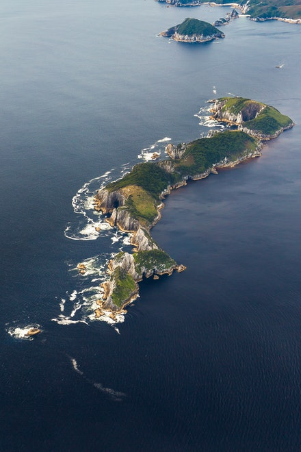 Breaksea Islands - The spectacular, and windswept Breaksea Islands are located in the Southern Ocean, close to mouth of Port Davey.