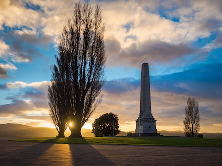 Hobart Cenotaph at sunrise - Sunrise over the Cenotaph in Hobart.