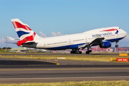 British Airways Boeing 747-400 G-CIVT - Sydney