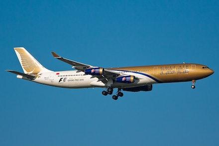 Gulf Air Airbus A340-300 A9C-LE - Bangkok