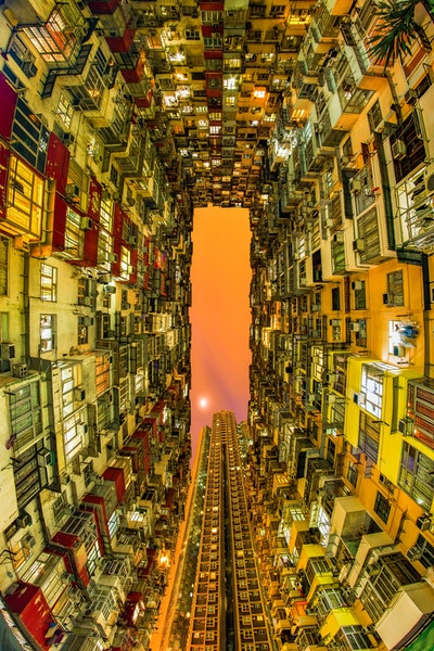 Crowded House - An image that epitomizes the incredibly dense population found all over Hong Kong. Apartment blocks such as this are everywhere - this...
