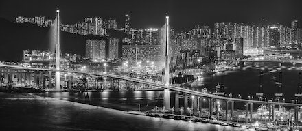 Stonecutters Bridge - Stonecutters Bridge is one of the many spectacular bridges around Hong Kong , connecting Stonecutters Island and Tsing Yi.
