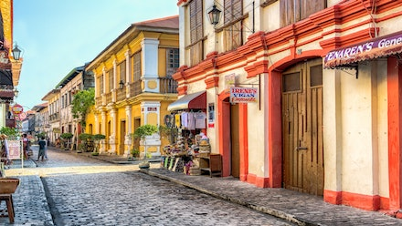 The colourful city of Vigan - A colourful streetscape of the charming city of Vigan. Located in Northern Luzon the wonderful Spanish heritage city of Vigan...