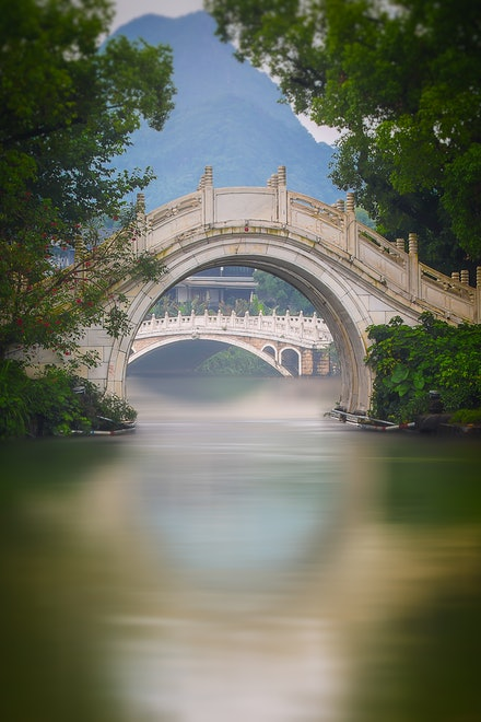 Arch Bridge - Ronghu Lake in the city of Guilin is a wonderfully peaceful, and picturesque place to spend a couple of hours.