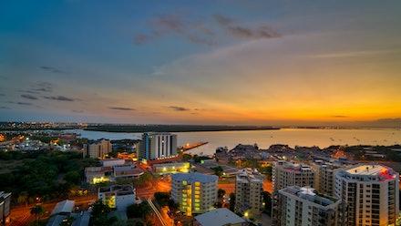 Darwin dawn - Dawn breaks over Darwin, Australia's northernmost city.