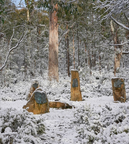 Steppes Sculptures - A spring snowfall turns the Steppes Sculptures in to a beautiful winter wonderland. These sculptures are well worth checking out if...