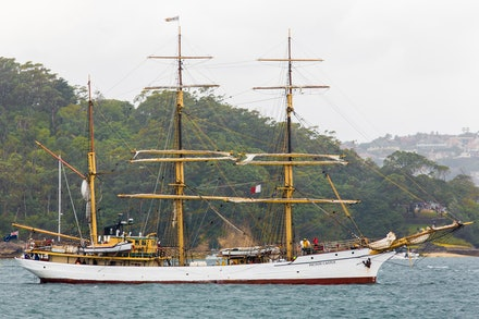 'Picton Castle' - Memories of a time past. The Canadian Tall Ship, the barque 'Picton Castle' on Sydney Harbour. The 'Picton Castle' is a three-masted...