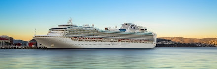 'Diamond Princess' - The Princess ships are regular sights in the port of Hobart during the busy cruise ship season from October to April. Here the 'Diamond...