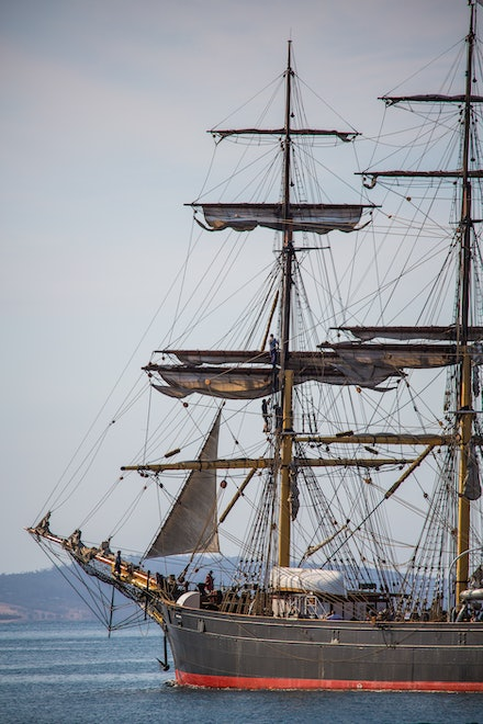 'James Craig' in Hobart - A regular visitor to Hobart for the Australian Wooden Boat Festival is the three-masted barque 'James Craig'. Built in 1874 in...