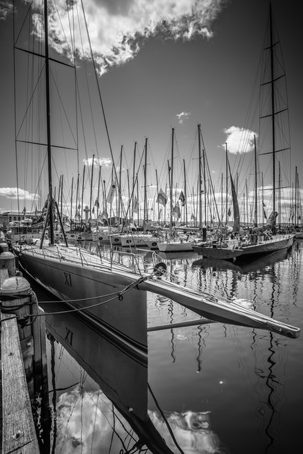 'Wild Oats XI' - A regular sight in the port of Hobart during late December is the maxi yacht 'Wild Oats XI'. Currently she holds an unprecedented 9 line...