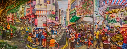 Sai Ying Pun Artwork - The MTR Station at Sai Ying Pun features some amazing artworks which decorate the hallways of the station. Well worth a detour when...