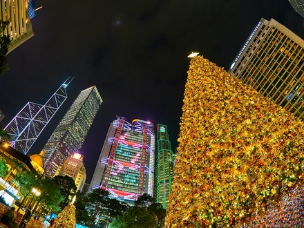 Christmas in Hong Kong - Many of Hong Kong's buildings are especially lit for the holiday season, and along with the famous Christmas Tree in Statue Square,...