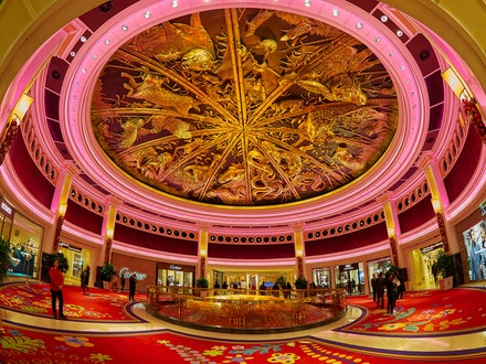 Dragon of Fortune - Wynn Macau - Located in the Rotunda at the Wynn Macau Resort is this golden, swirling cupola that highlights the Chinese zodiac. Every...