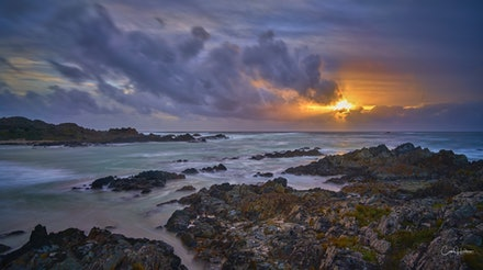 'Sunset at Sarah Anne Rocks' - The stunningly beautiful, and rugged Tarkine Coast features some of the world's wildest coastlines. Bearing the brunt of...