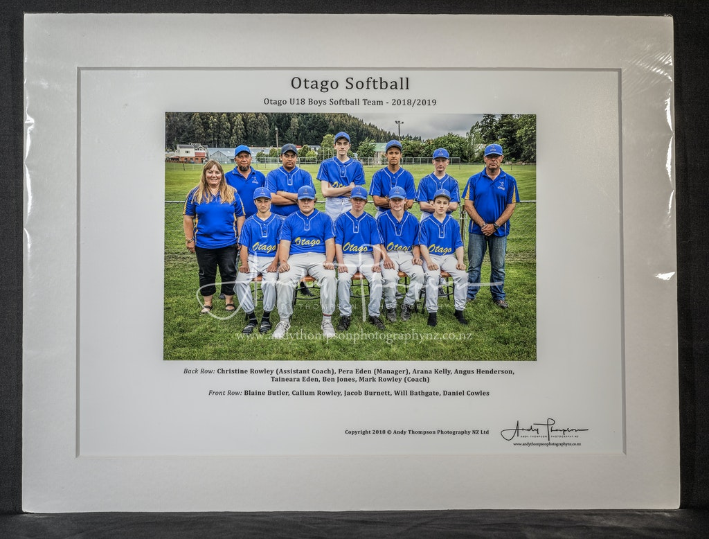 Matt Framed - Team Photo - $39.00 each