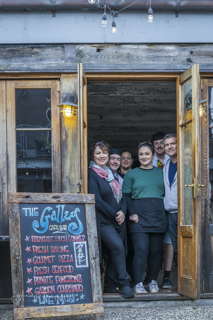 The Galley Cafe & Bar http://thegalleycafe.co.nz/ - Robyne Saunders, Allan Larnach, Tayla Saunders, Angela Smith, William Hunter, Mitchell Cartwright 