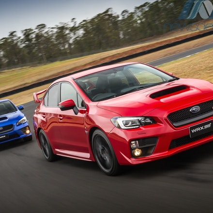MY15 Subaru WRX STI - MY15 Subaru WRX Premium (left) and WRX STI (right),