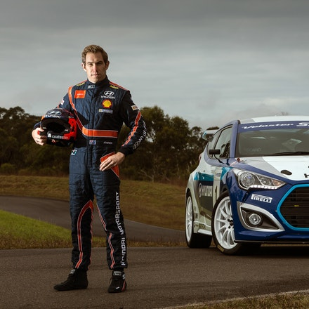Hyundai Veloster Race Concept - Hyundai Veloster Race Concept with WRC driver Chris Atkinson.