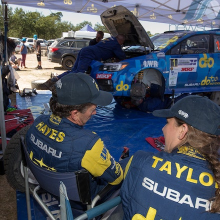 2017-Eureka-Rally-4965 - 2017 Eureka Rally: Subaru do Motorsport driver Molly Taylor and co-driver Bill Hayes in in the service park during Round 1 of...