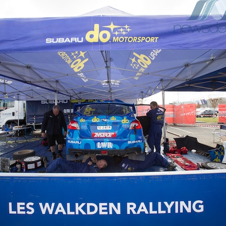 2017 National Capital Rally - 2017 National Capital Rally: Round 3 of the CAMS Australian Rally Championship. Service park.