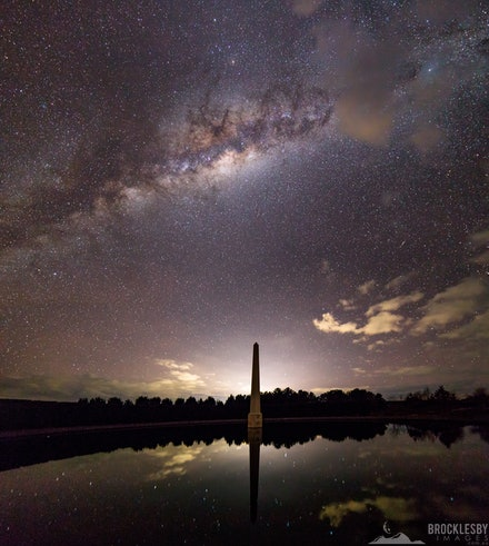 Oberon Mill Illumination - Stitched Panorama of the Milky Way over the Obelisk at Mayfield Gardens.  This image was named as an Honourable Mention in the...