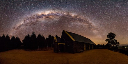 Chapel at Mayfield Gardens, Oberon - The Chapel at Mayfield Gardens, Oberon - overlooked by the Milky Way.