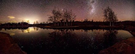 Reflections - Mayfield Gardens, Oberon - The beautiful Mayfield Gardens under star light.