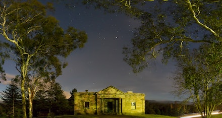 Hartley Courthouse by Night - The historic sandstone building, Hartley Courthouse under the night sky, Hartley NSW.