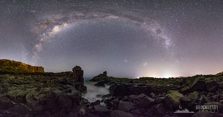 Panorama of Milky Way over Bombo Quarry - Stitched Panorama of 14 images showing the Southern Hemisphere Milky Way over Bombo Quarry, Kiama NSW.