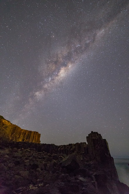 Bombo Milky Way - Single image of the Milky Way arching away from the North to South, from Bombo Quarry, Wollongong.