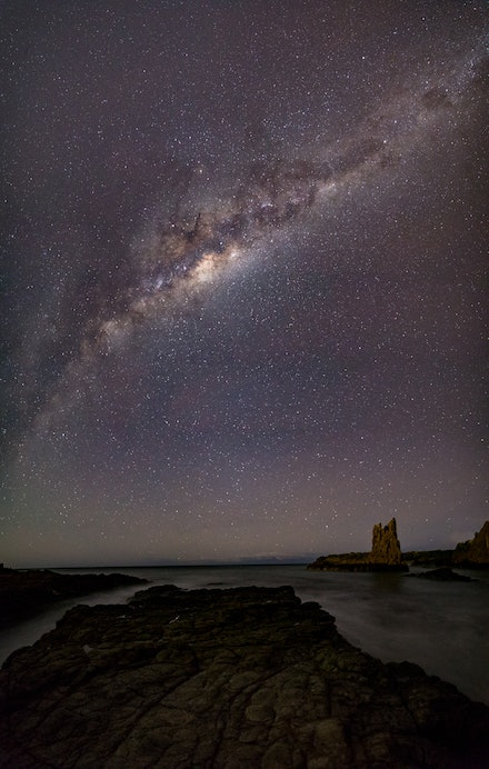 Cathedral Rock by starlight - Cathedral Rock, just north of Kiama, is an amazing place. The spire of rock juts out of the ocean, just off the shore, and...