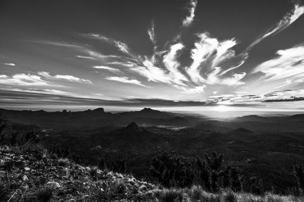 Sunset - A black and white sunset.