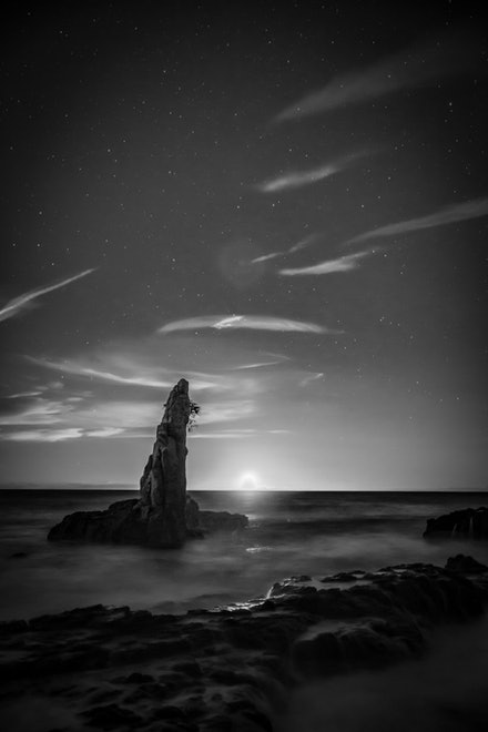 Moonrise - Moonrise on the horizon.