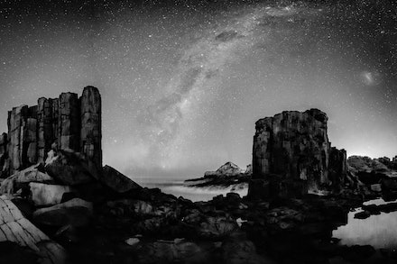 Bombo Quarry Milky Way - The Southern Hemisphere Milky Way over Bombo Quarry, Wollongong NSW.