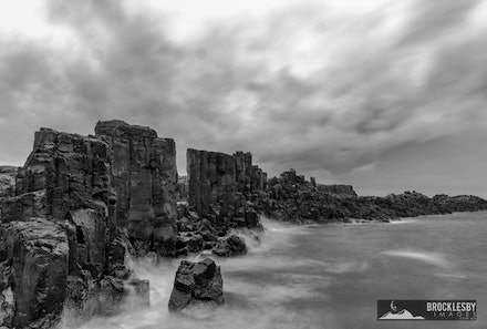 Bombo Quarry - The Wall 3 - The Wall at Bombo Quarry, Wollongong featuring the fine sea mist.