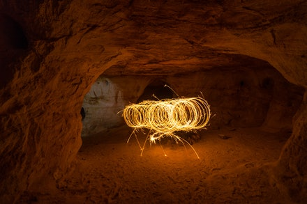 Light Painting in Cave - Light Painting in the Catacomb