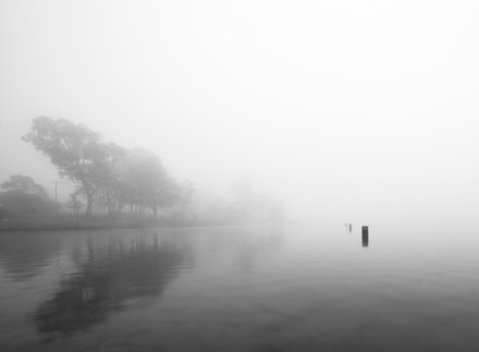 Lake Mist - Misty Wentworth Falls Lake.