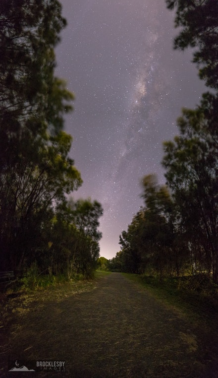 Pathway to the stars - While taking photos on Lake Illawarra, juts south of Wollongong, I walking back to my car on this path and noticed that the bright...