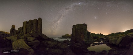 Bombo Quarry Panorama - A stitched panorama of the Southern Hemisphere Milky Way over Bombo Quarry, Kiama NSW.