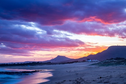 Sunset at Towradgi Point, Wollongong - Beautiful sunset over Towradgi Point, Wollongong on the coast of Australia.
