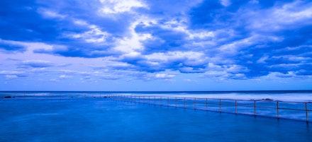 Beautiful Blue Panorama - A beautiful blue panorama taken at Towradgi Point, Wollongong NSW.