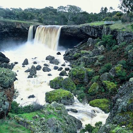 Wannon Falls. - Wannon Falls near Hamilton in South West Victoria, Australia.
