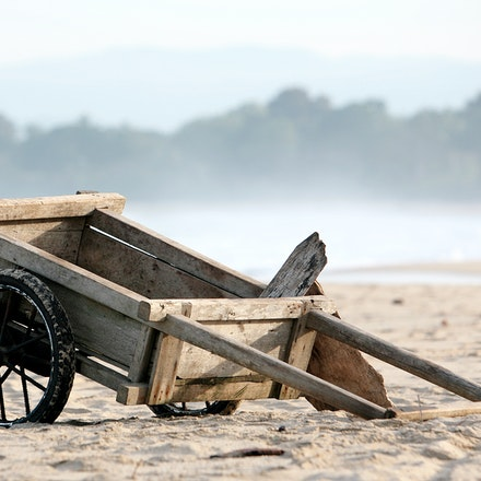 Cart. - A cart in Krui, Indonesia that local fishermen use to carry their catch once they have returned back to shore.