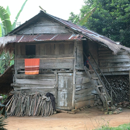 Home. - An Indonesian home in Sumatra.