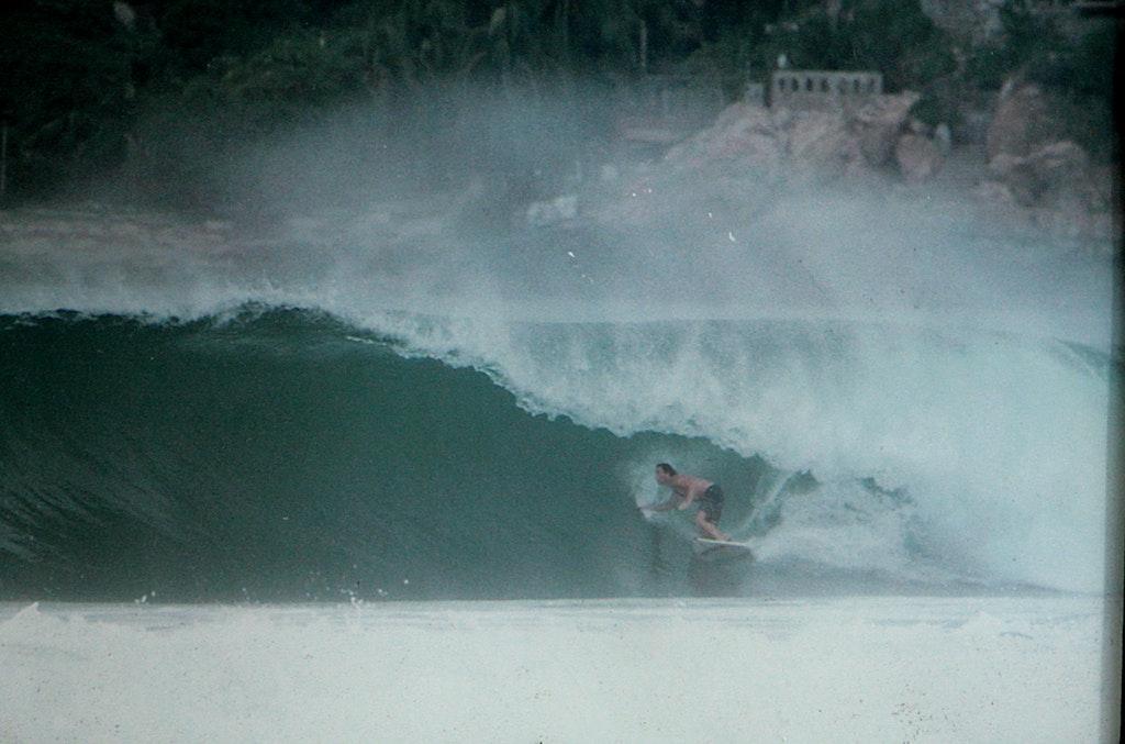 Puerto Escondido. - Me surfing at Puerto Escondido in Mexico.