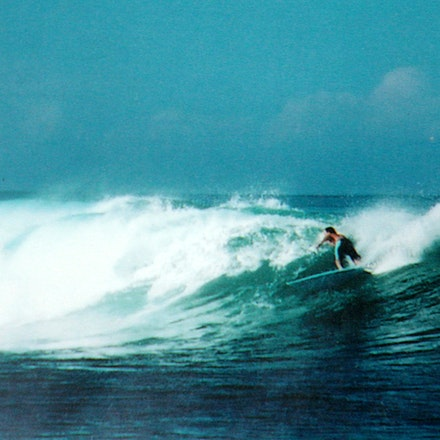 Ments. - Me surfing at macaronis in the Mentawai Islands of Indonesia.