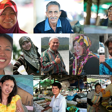 Brunei local people. - A collarge of the happy local people in Brunei.