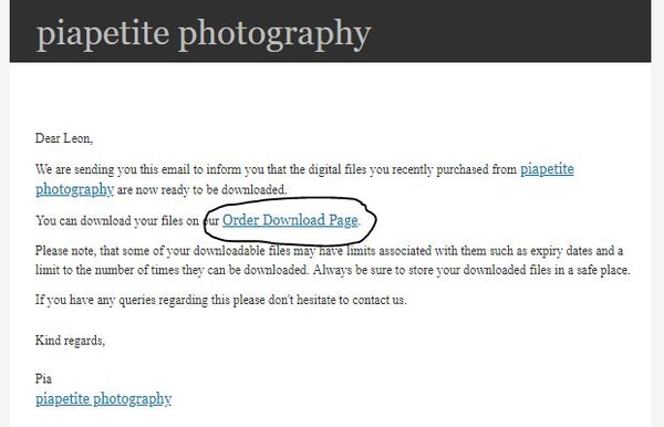 How to download your photos