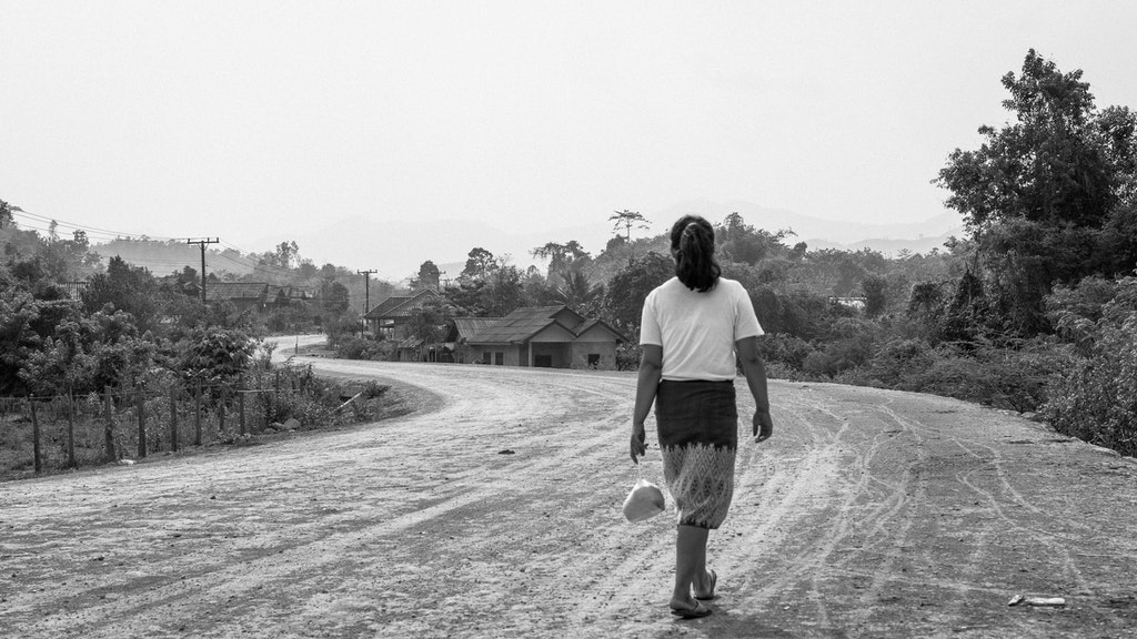 bw-laos-walking-road